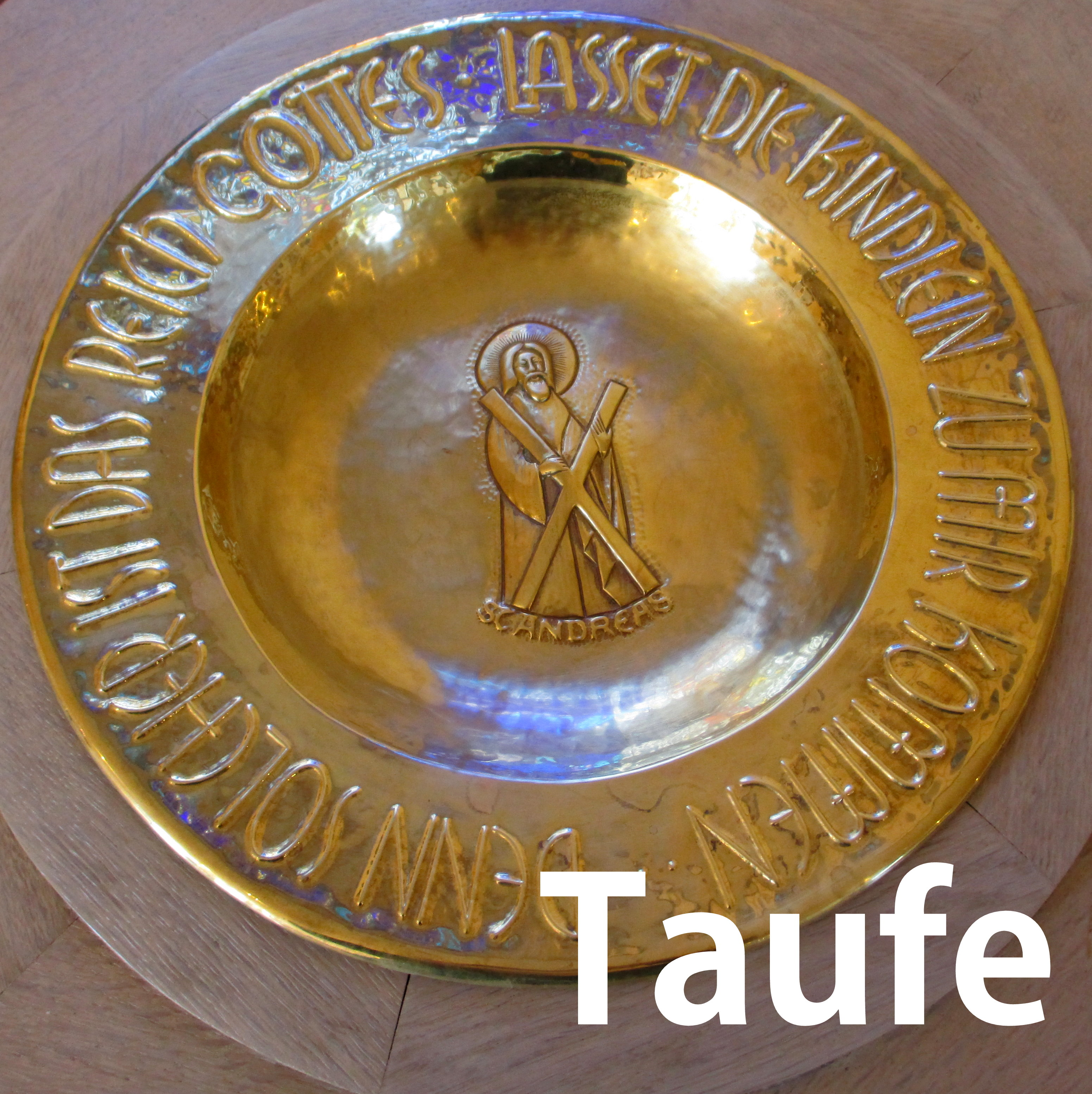 Taufe - Taufbecken in St. Andreas